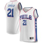 Fanatics Branded Joel Embiid Philadelphia 76ers Youth White Fast Break Replica Jersey - Association Edition