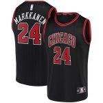 Fanatics Authentic Lauri Markkanen Chicago Bulls Black Fast Break Team Replica Jersey Statement Edition