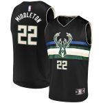 Fanatics Branded Khris Middleton Milwaukee Bucks Youth Black Fast Break Player Replica Jersey - Statement Edition