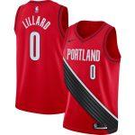 Nike Damian Lillard Portland Trail Blazers Red Finished Swingman Jersey - Statement Edition