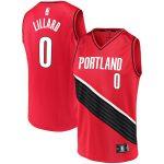 Fanatics Branded Damian Lillard Portland Trail Blazers Red Fast Break Team Replica Jersey - Statement Edition