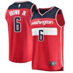 Fanatics Branded Troy Brown Washington Wizards Red 2018 NBA Draft First Round Pick Fast Break Replica Jersey - Icon Edition
