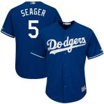 Majestic Corey Seager Los Angeles Dodgers Royal Big & Tall Alternate Cool Base Replica Player Jersey