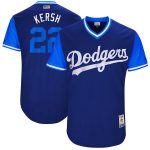 "Majestic Clayton Kershaw ""Kersh"" Los Angeles Dodgers Royal/Light Blue 2017 Little League World Series Authentic Players Weekend Classic Jersey"