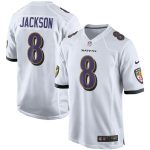 Nike Lamar Jackson Baltimore Ravens White Player Game Jersey