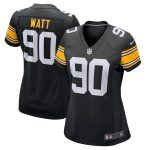 Nike T.J. Watt Pittsburgh Steelers Women's Black Alternate Game Jersey