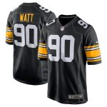 Nike T.J. Watt Pittsburgh Steelers Youth Black Alternate Game Jersey