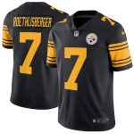 Nike Ben Roethlisberger Pittsburgh Steelers Black Vapor Untouchable Color Rush Limited Player Jersey