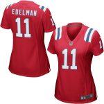 Nike Julian Edelman New England Patriots Women's Red Game Jersey