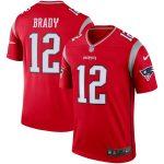 Tom Brady New England Patriots Nike Red Inverted Legend Jersey