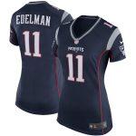 Nike Julian Edelman New England Patriots Women's Navy Blue Game Jersey -