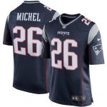 Nike Sony Michel New England Patriots Navy Game Jersey