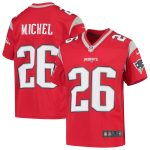 Nike Sony Michel New England Patriots Youth Red Inverted Game Jersey
