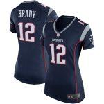Nike Tom Brady New England Patriots Girls Youth Navy Game Jersey