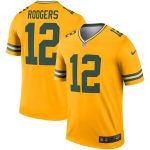 Aaron Rodgers Green Bay Packers Nike Gold Inverted Legend Jersey