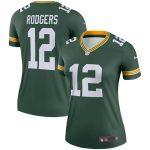 Nike Aaron Rodgers Green Bay Packers Women's Green Legend Jersey