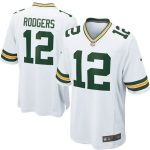 Nike Aaron Rodgers Green Bay Packers White Game Jersey