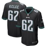 Nike Jason Kelce Philadelphia Eagles Black Player Game Jersey