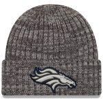 New Era Denver Broncos Heather Gray 2019 NFL Crucial Catch Cuffed Knit Hat
