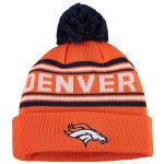 Denver Broncos Youth Orange Jacquard Cuffed Knit Hat with Pom