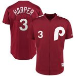 Majestic Bryce Harper Philadelphia Phillies Scarlet 1979 Saturday Night Special Authentic Player Jersey
