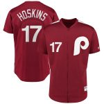 Majestic Rhys Hoskins Philadelphia Phillies Scarlet 1979 Saturday Night Special Authentic Player Jersey