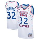 Mitchell & Ness Magic Johnson Western Conference White 1983 All-Star Hardwood Classics Authentic Jersey