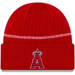New Era Los Angeles Angels Red Primary Logo On-Field Sport Cuffed Knit Hat