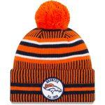 New Era Denver Broncos Orange/Navy 2019 NFL Sideline Home Official Sport Knit Hat