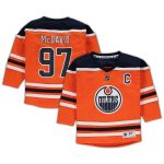 Connor McDavid Edmonton Oilers Preschool Orange Replica Player Jersey