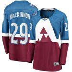 Fanatics Branded Nathan MacKinnon Colorado Avalanche Women's Blue/Burgundy 2020 Stadium Series Breakaway Player Jersey