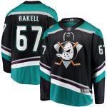 Rickard Rakell Anaheim Ducks Fanatics Branded Alternate Breakaway Player Jersey - Black