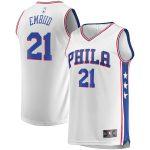 Fanatics Branded Joel Embiid Philadelphia 76ers Youth White 2019/20 Fast Break Replica Player Jersey - Association Edition