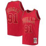 Mitchell & Ness Dennis Rodman Chicago Bulls Red 1997-98 Hardwood Classics Chinese New Year Swingman Jersey