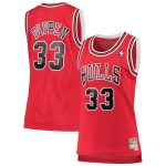 Mitchell & Ness Scottie Pippen Chicago Bulls Women's Red 1997-98 Hardwood Classics Swingman Jersey