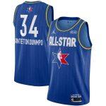 Jordan Brand Giannis Antetokounmpo Blue 2020 NBA All-Star Game Swingman Finished Jersey