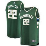 Fanatics Branded Khris Middleton Milwaukee Bucks Hunter Green Fast Break Replica Player Jersey - Icon Edition