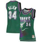 Mitchell & Ness Ray Allen Milwaukee Bucks Women's Green 1996-97 Hardwood Classics Swingman Jersey