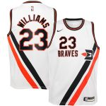 Nike Lou Williams LA Clippers Youth White Hardwood Classics Swingman Jersey
