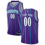 Charlotte Hornets Jordan Brand Purple Hardwood Classics Custom Swingman Jersey