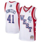 Mitchell & Ness Dirk Nowitzki White Western Conference 2004 All-Star Hardwood Classics Swingman Player Jersey
