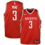 Nike Chris Paul Houston Rockets Youth Red Swingman Jersey - Icon Edition