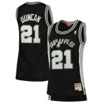 Mitchell & Ness Tim Duncan San Antonio Spurs Women's Black 1998-99 Hardwood Classics Swingman Jersey