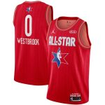 Jordan Brand Russell Westbrook Red 2020 NBA All-Star Game Swingman Finished Jersey