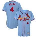 Majestic Yadier Molina St. Louis Cardinals Horizon Blue Alternate Flex Base Authentic Collection Player Jersey