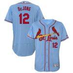 Majestic Paul DeJong St. Louis Cardinals Horizon Blue Alternate Flex Base Authentic Collection Player Jersey