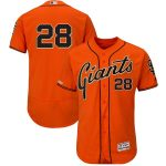 Majestic Buster Posey San Francisco Giants Orange Alternate Flex Base Authentic Collection Player Jersey