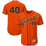 Majestic Madison Bumgarner San Francisco Giants Orange Alternate Flex Base Authentic Collection Player Jersey
