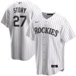 Nike Trevor Story Colorado Rockies White Home 2020 Replica Player Jersey