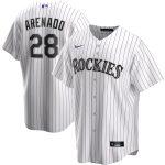 Nike Nolan Arenado Colorado Rockies White Home 2020 Replica Player Jersey